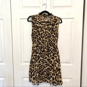 New Look Animal Print Sleeveless Dress Size L